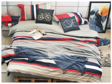 QUILT COVER SET NAVY
