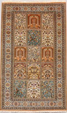 Handmade Royal Taj. Silk 18/18 1.62x0.95=1.54